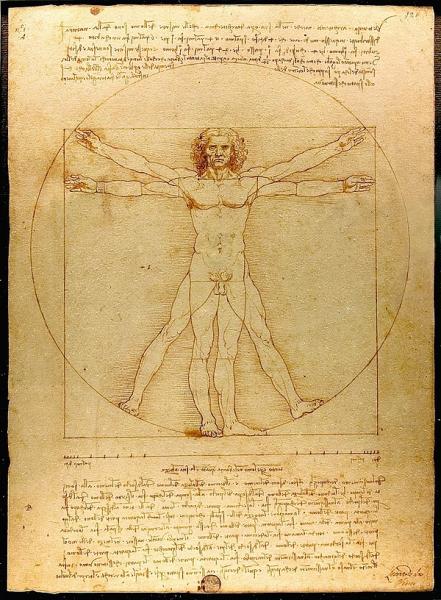"DaVinci's ""Vitruvian Man"" uncommon inspiration"